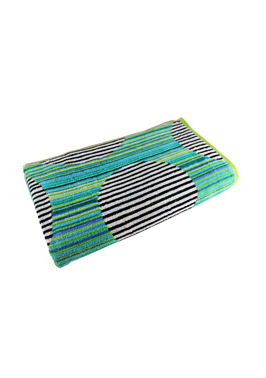 Legian 100% Cotton Velour Jacquard Beach Towel - 100x180cm