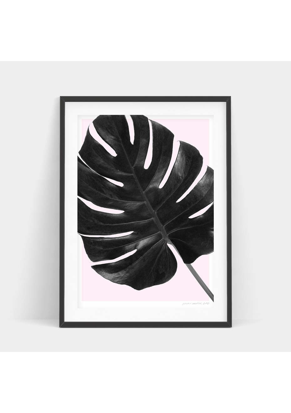 Simply Creative - Blush Monstera - A4 Monochrome Print