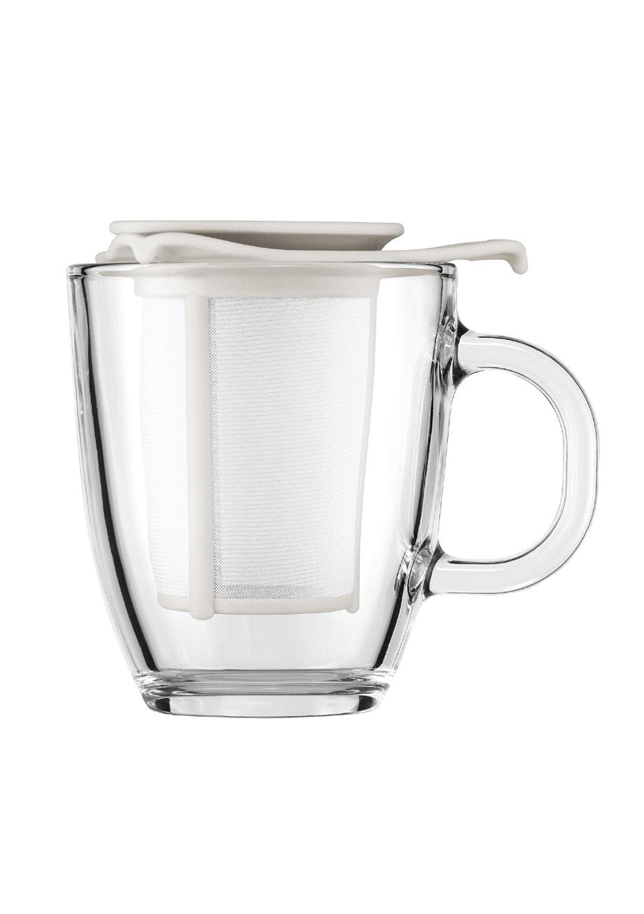 Bodum - Mug And Tea Strainer, 0.35L - Off White