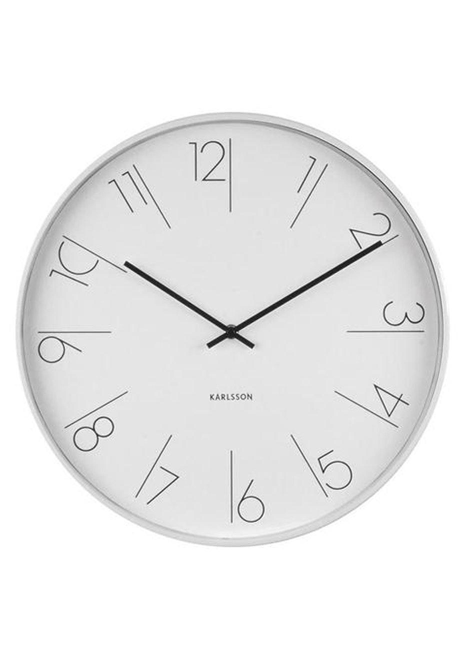 Karlsson - Wall Clock 'Elegant Numbers' - White