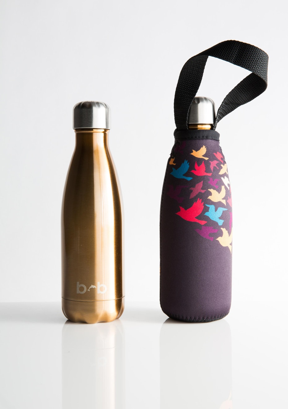 BBBYO - Future Bottle+ Carry Cover (Flock  Print) - 350 ml Gold