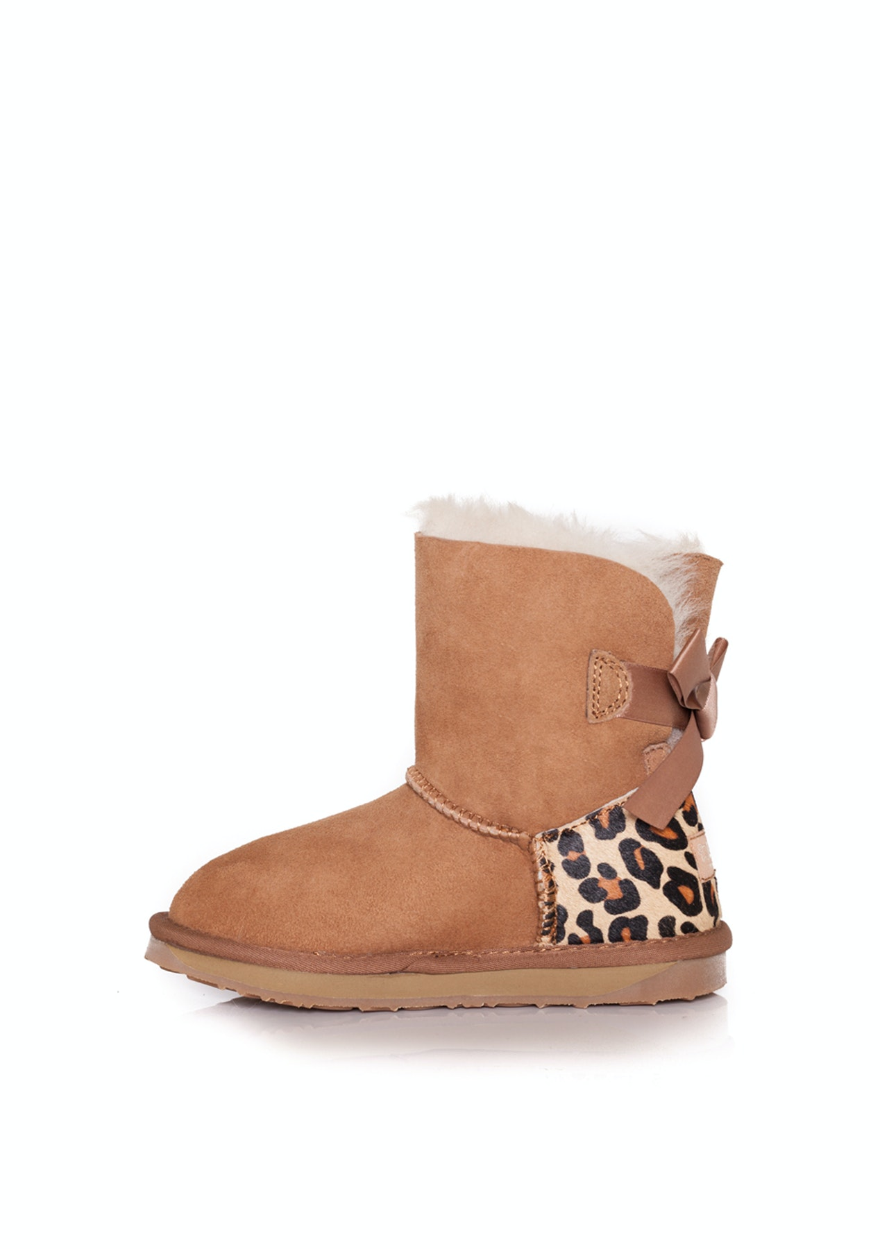 8e1875f90c7 Ever Uggs - Kids Mini Back Bow Backleopardchestnut - Kids Mini Back Bow  Backleopardchestnut