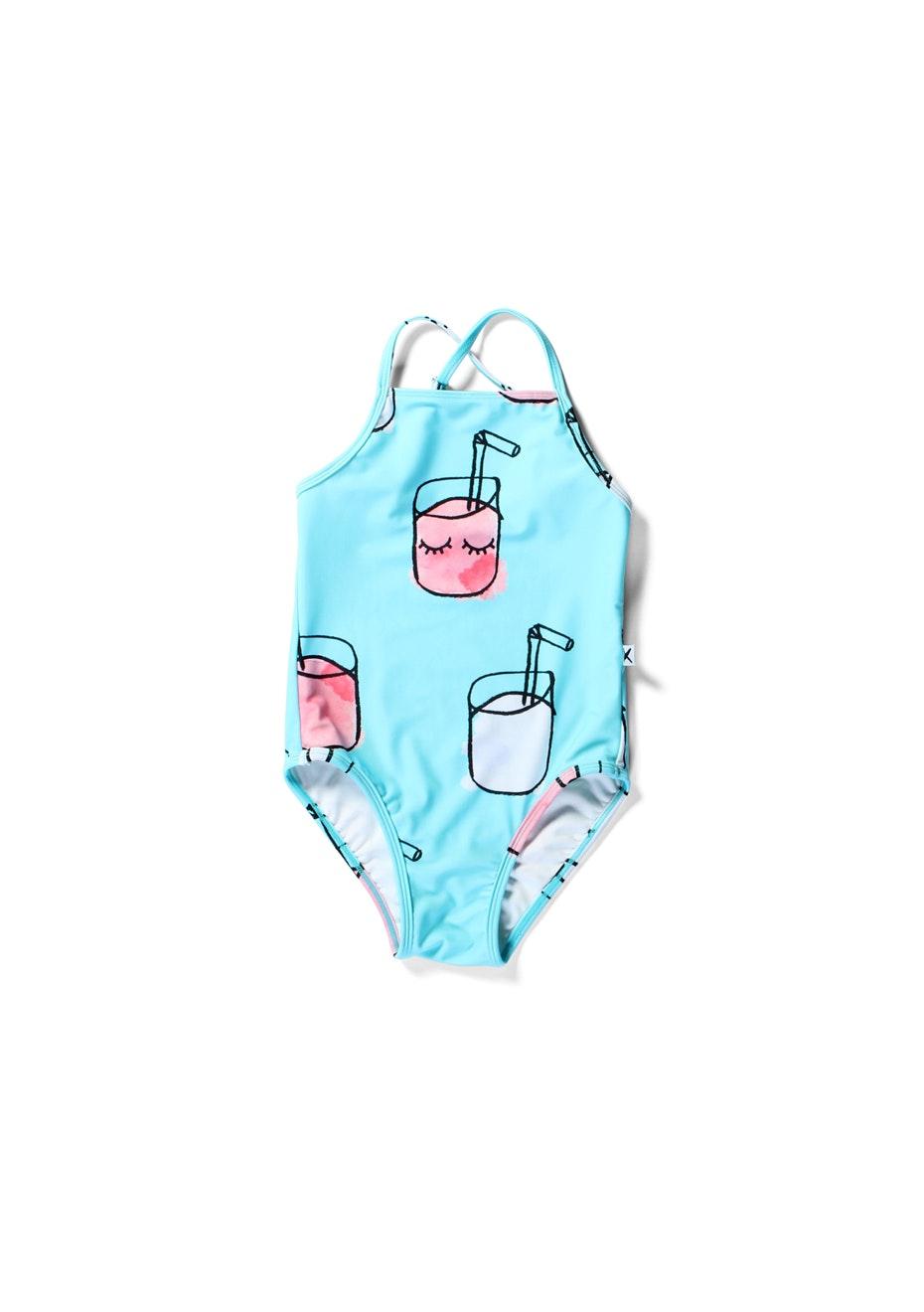 Minti - Cute Cups - Swimsuit - Girls - Blue