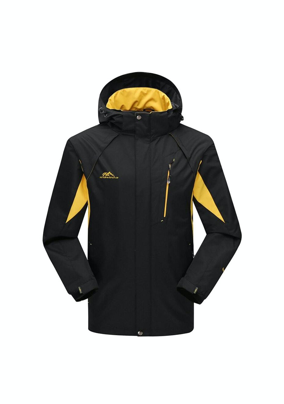 Men 2-in-1 WaterProof Jackets - Black / Yellow