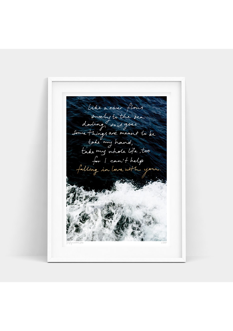 Simply Creative - Beauty Behind The Lyrics - A3 Gold Foil Limited Edition  Print
