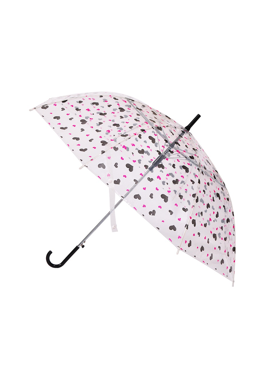 Little Ray Of Sunshine Umbrella - Pink/Blk Hearts
