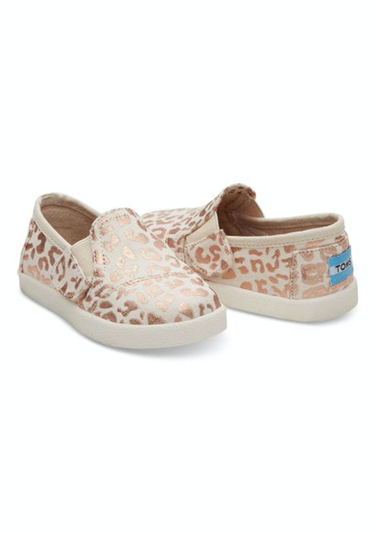 7dc8e9b8999 Toms - Tiny Avalon Slipon - Natural Cheetah Foil - Boxing Day Baby + Kids -  Onceit