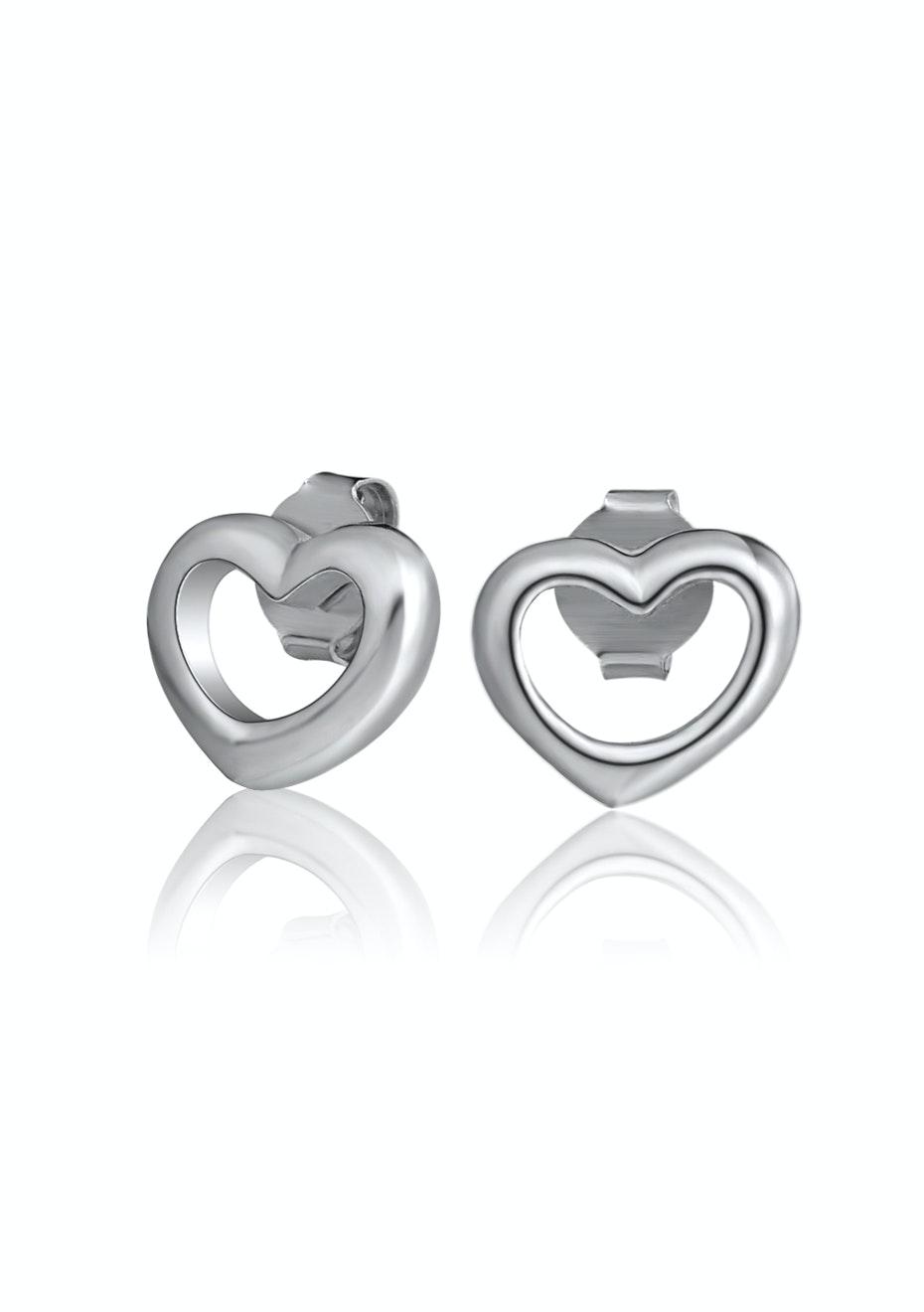 Solid 925 Solid Heart Earrings