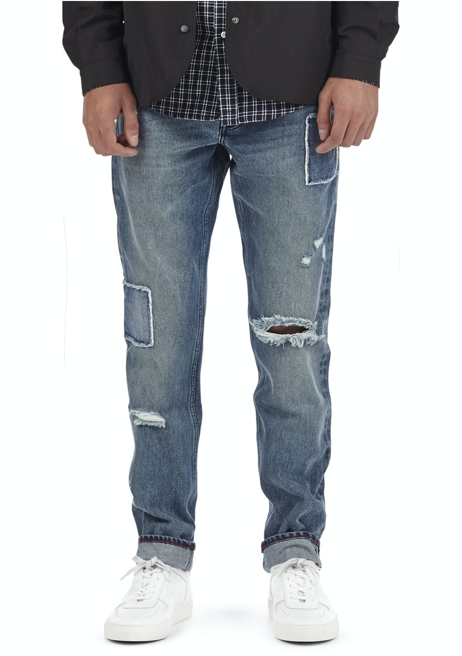I Love Ugly - Straight Leg Denim - Patchwork Blue