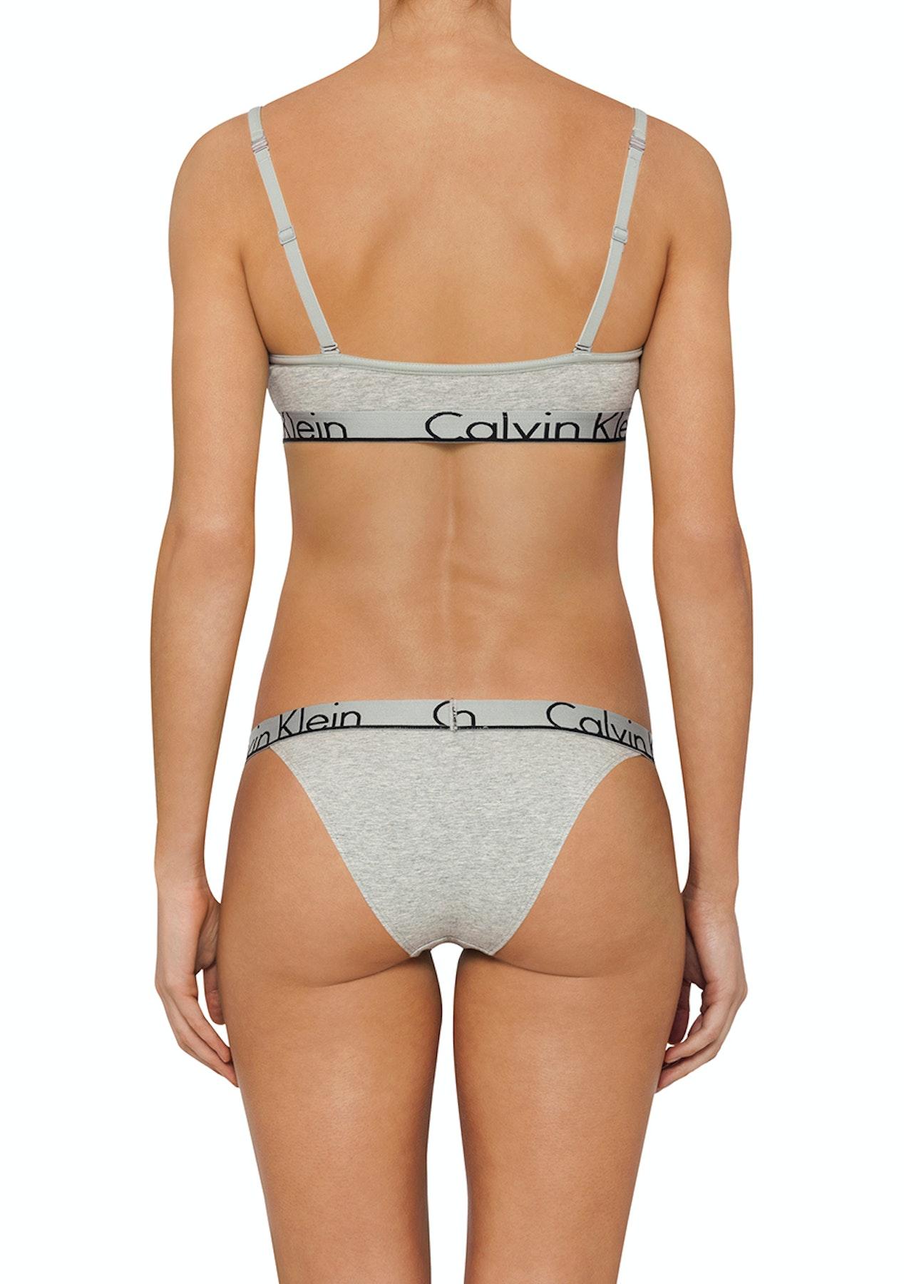329d76a787b8d Calvin Klein - Triangle Unlined Bralette - Grey Heather - Womens Garage  Sale - Onceit
