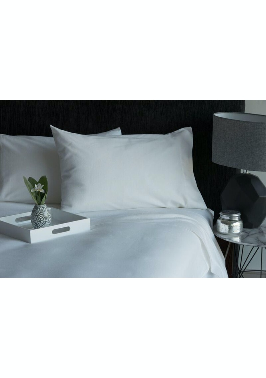 Conran Flannelette Sheet Set Double Bed  White