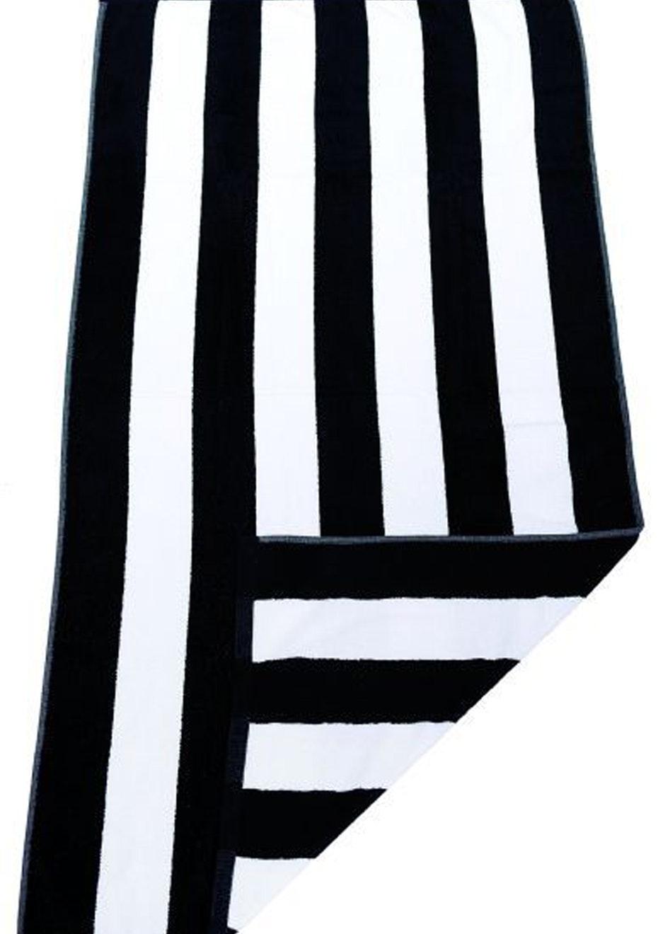 Havana Stripe Beach Towel Black/White
