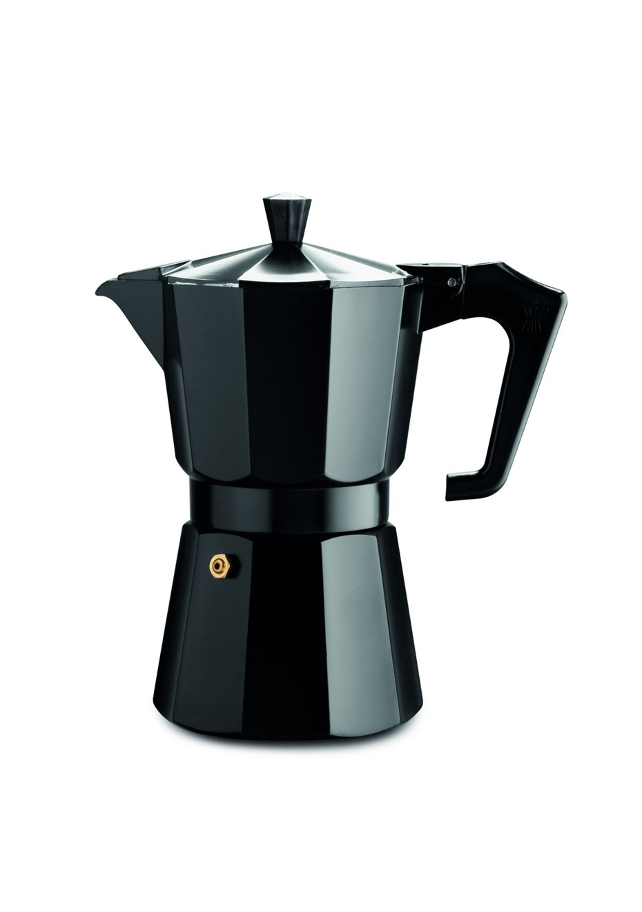 Pezzetti Black Italexpress Aluminium Coffee Maker 6Cup