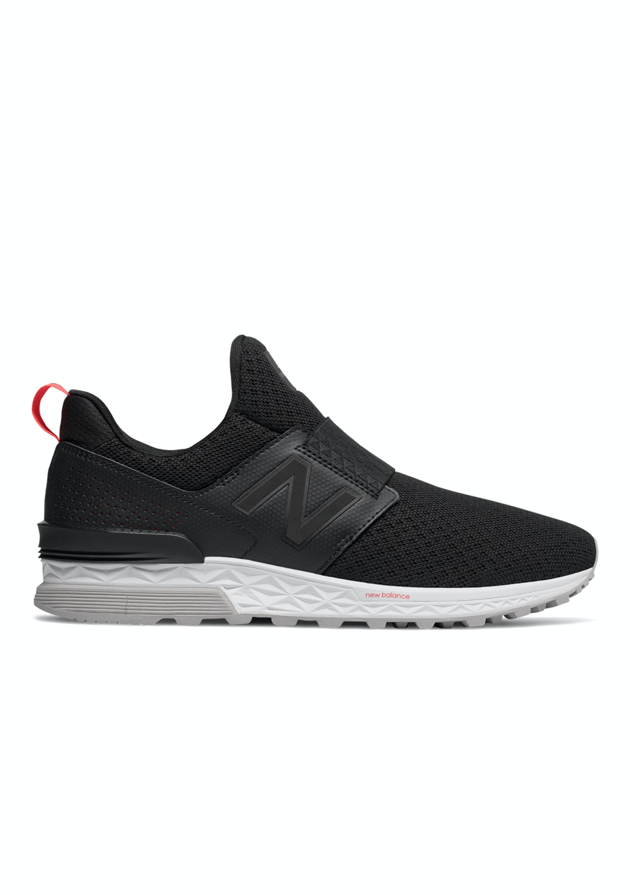 New Balance Mens - Slip On 574 Sport Decon - Black with Silver - Boxing Day New  Balance - Onceit 44a06ce0d