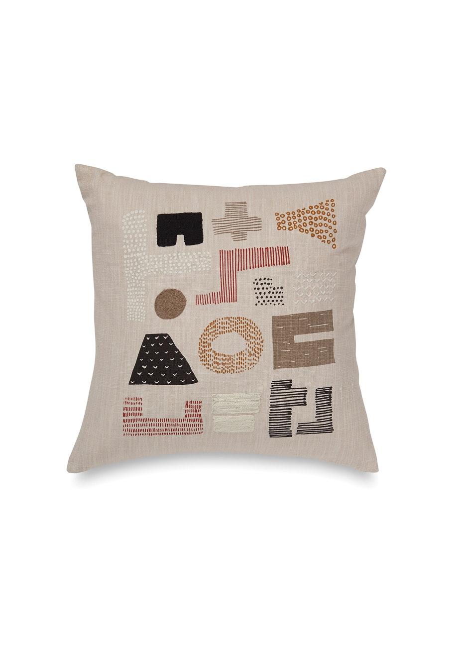 Città - Obi Embroidered Cushion Cover