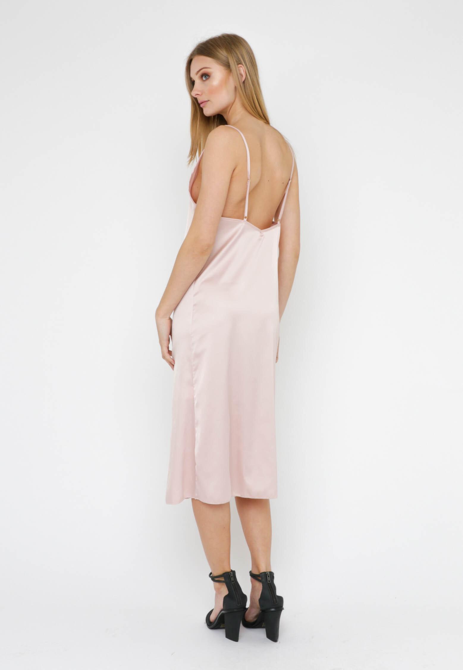 Lucelle Slip Dress - Rose/ Champagne