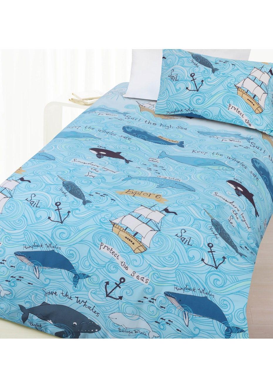 Whales Glow in the Dark Quilt Cover Set - Double Bed