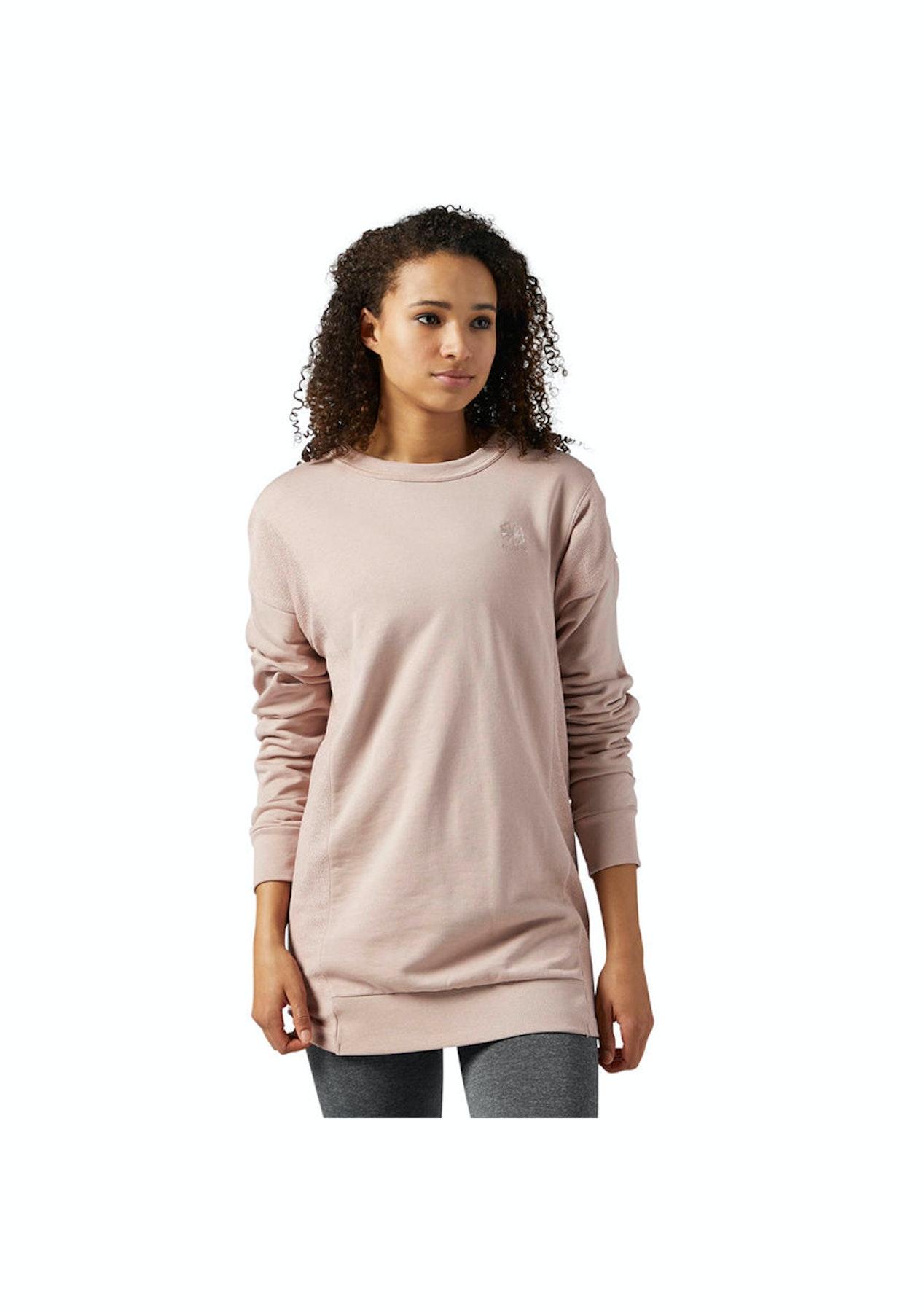 76237b6f Reebok Womens - French Terry Crewneck Sweatshirt Shell Pink - Puma & Reebok  Reductions - Onceit