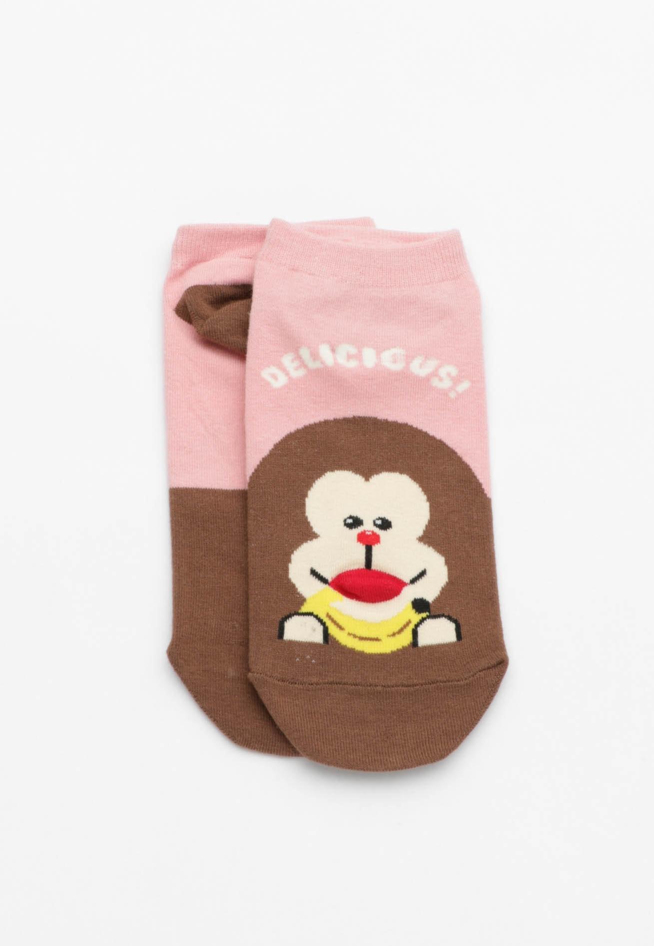 Delicious Banana Socks - Pink