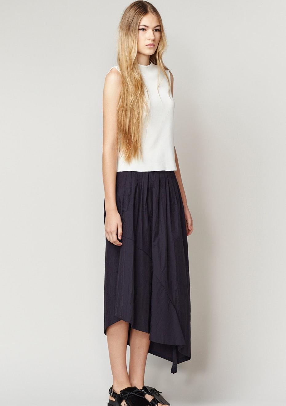 Achro - Asymmetrical Skirt - Navy