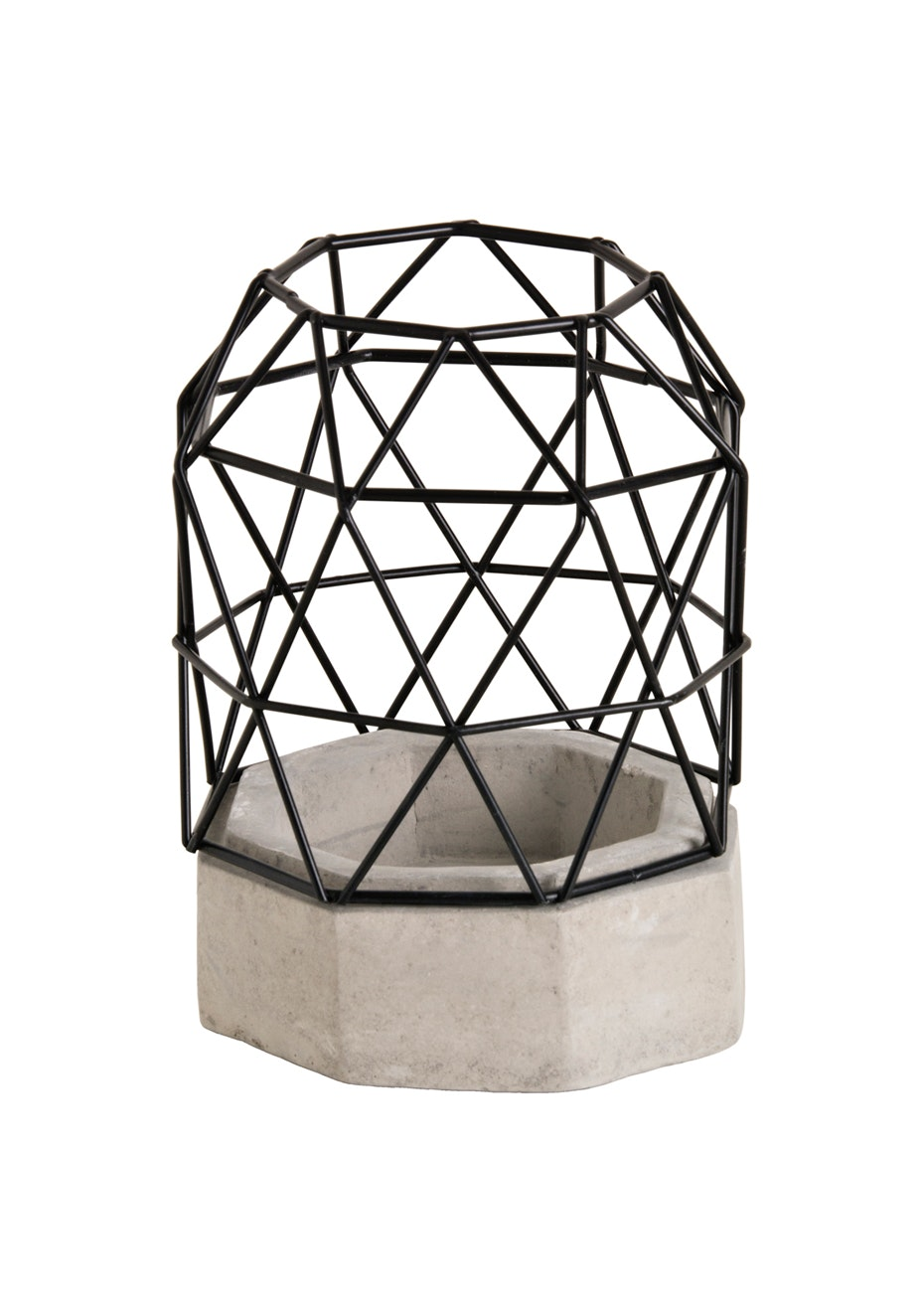 Jason - Concrete Candle holder - Black/concrete