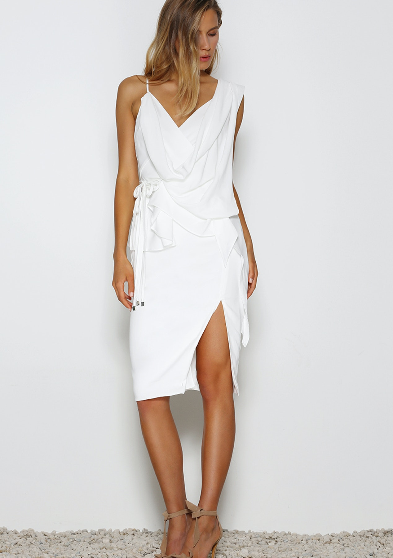 65c018ab381a Prem The Label - Resolution Midi Dress - White - Designer Outlet - Onceit