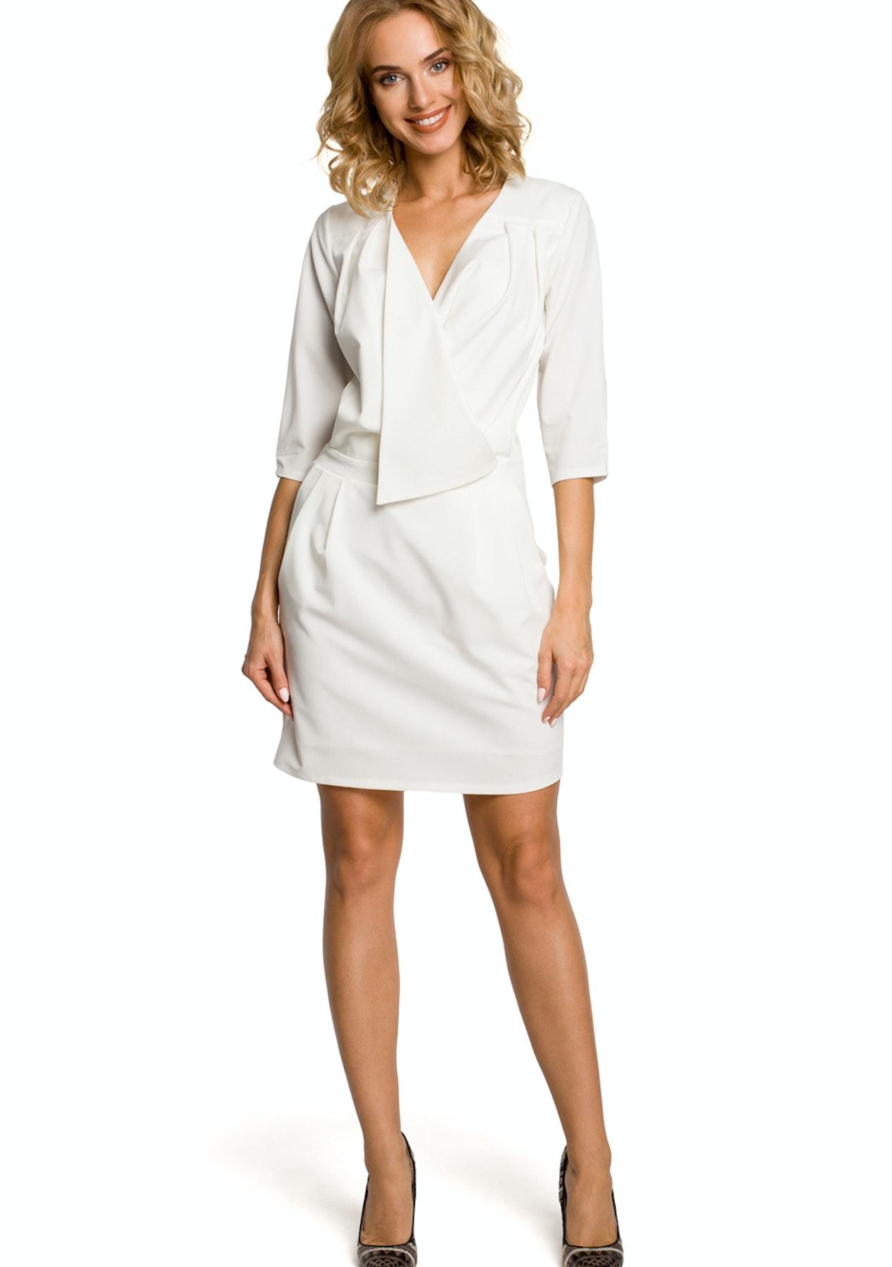 7dc1ecedd9 Made of Emotion - Woven Dress - Ecru - Winter Wardrobe Refresh - Onceit