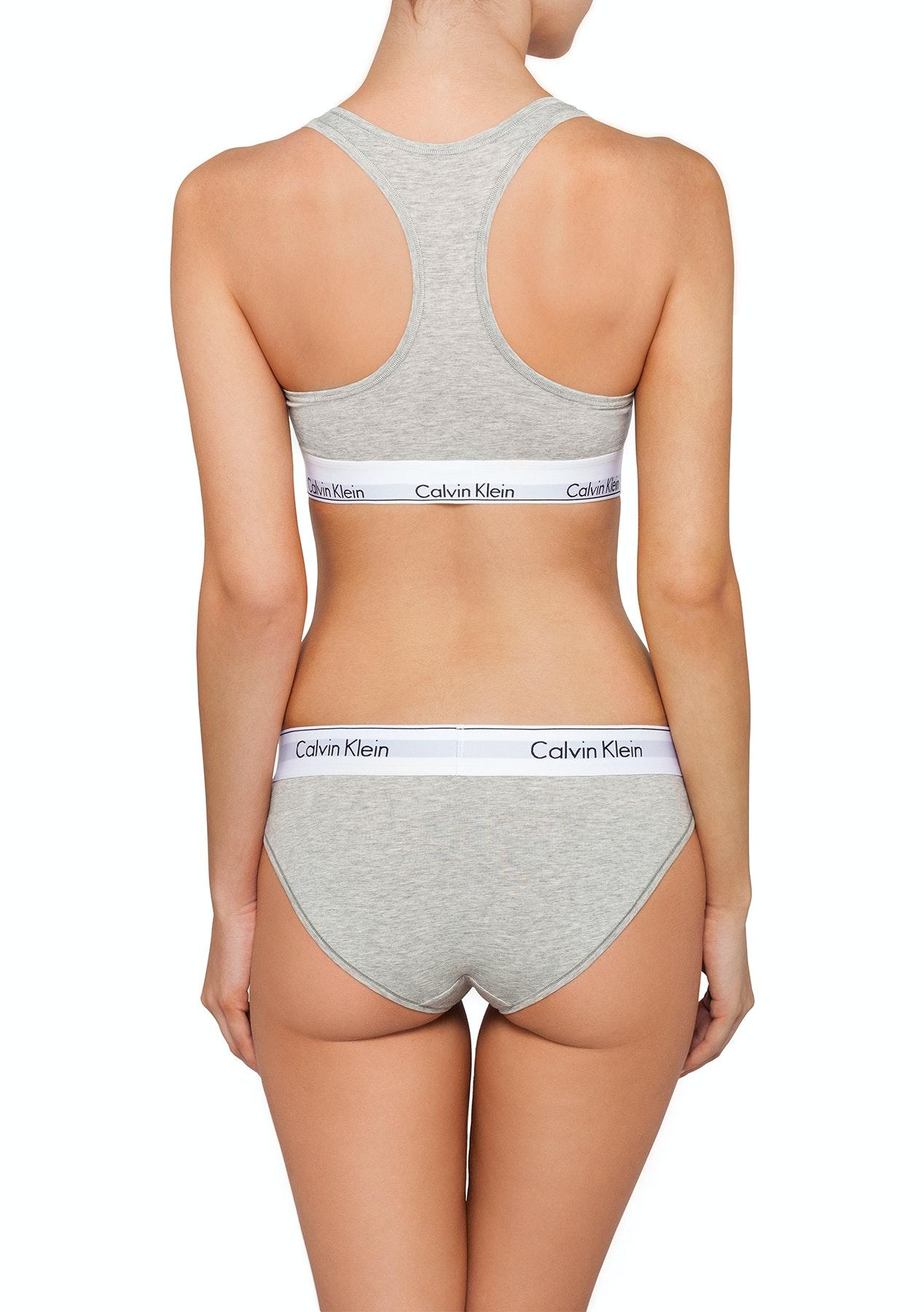 f87e1887a4 Calvin Klein - Modern Cotton Bralette   Bikini Set - Heather Grey - CK  MODERN COTTON Sets! - Onceit