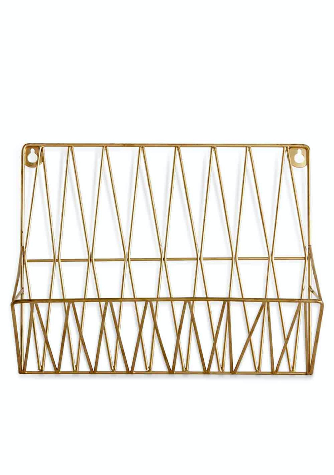 Me my trend gold magazine rack gold colours of the for Trendy magazine rack