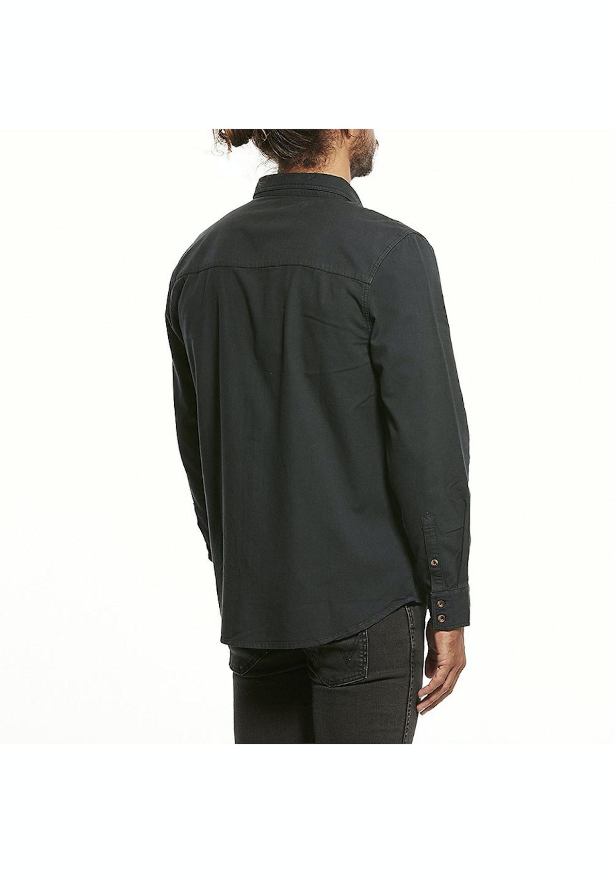 ccff3167b1422 Wrangler - Platoon Ls Shirt - Vintage Black - Wrangler   Lee Mens ...
