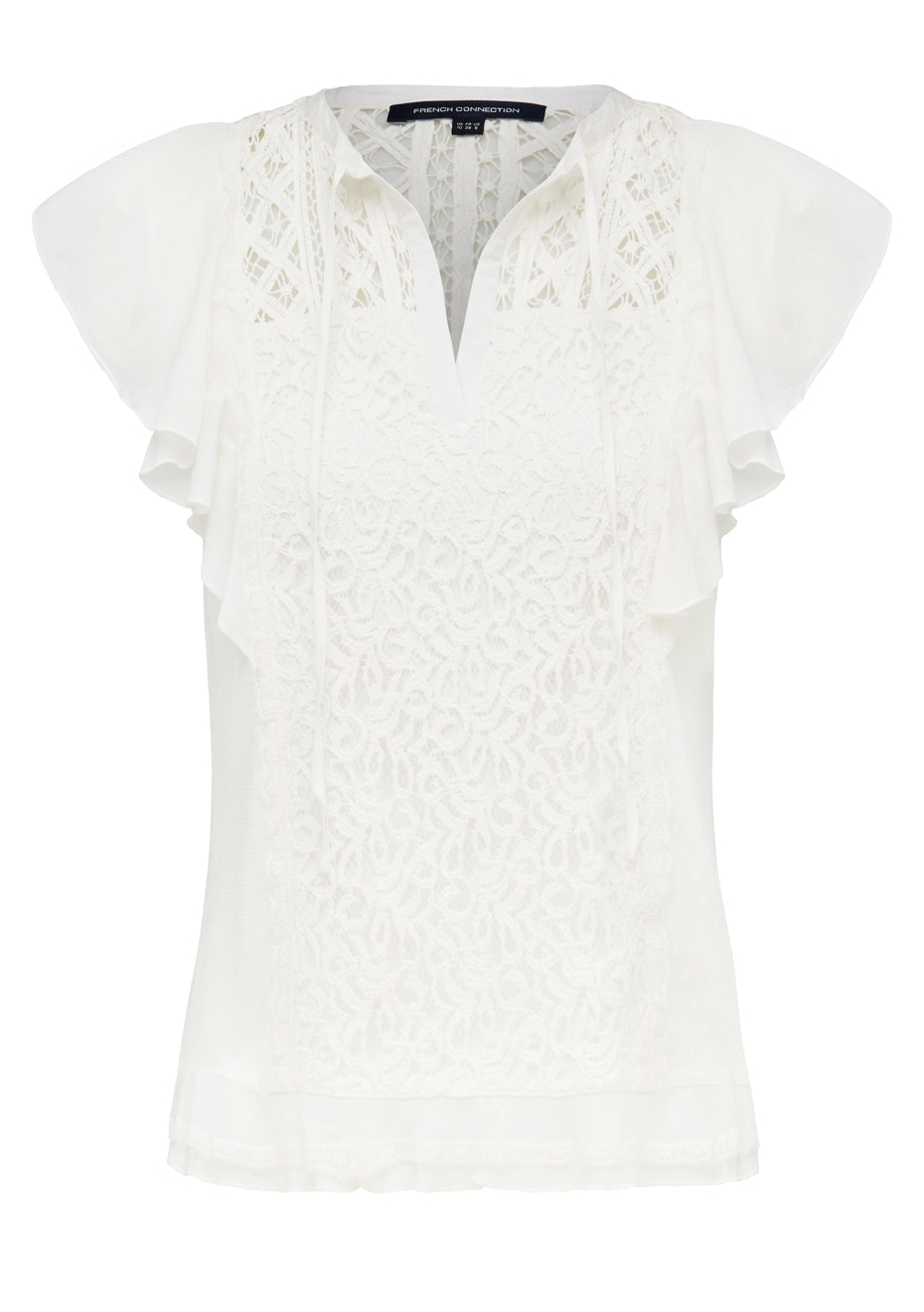 French Connection - Dayton Lace Sl Shirt - Winter White