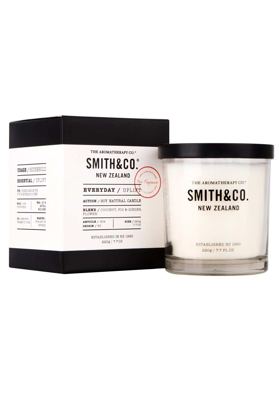 The Aromatherapy Co. Smith & Co. Candle - Uplift - 220g
