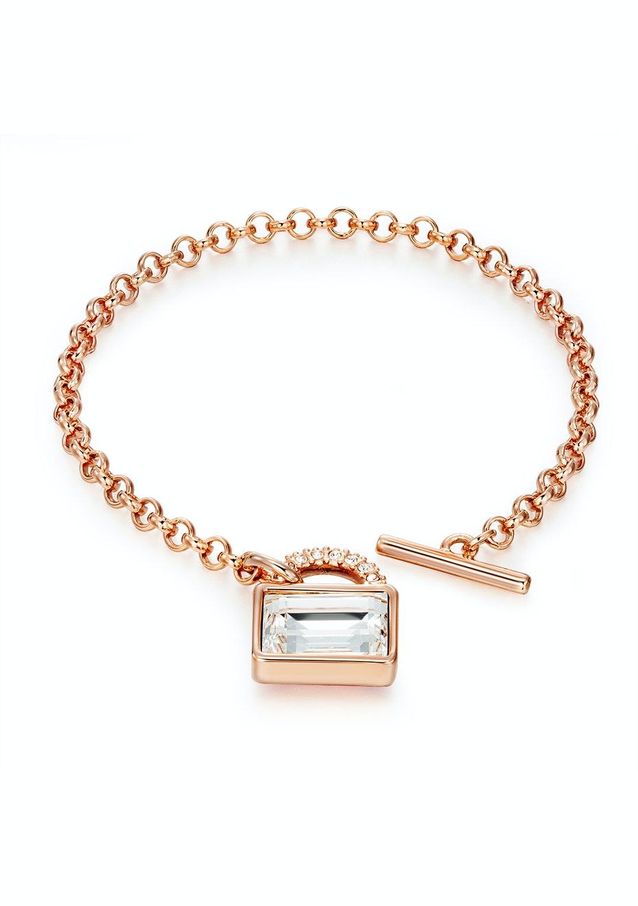 Designer Bracelet Ft Swarovski Crystals -Rose Gold