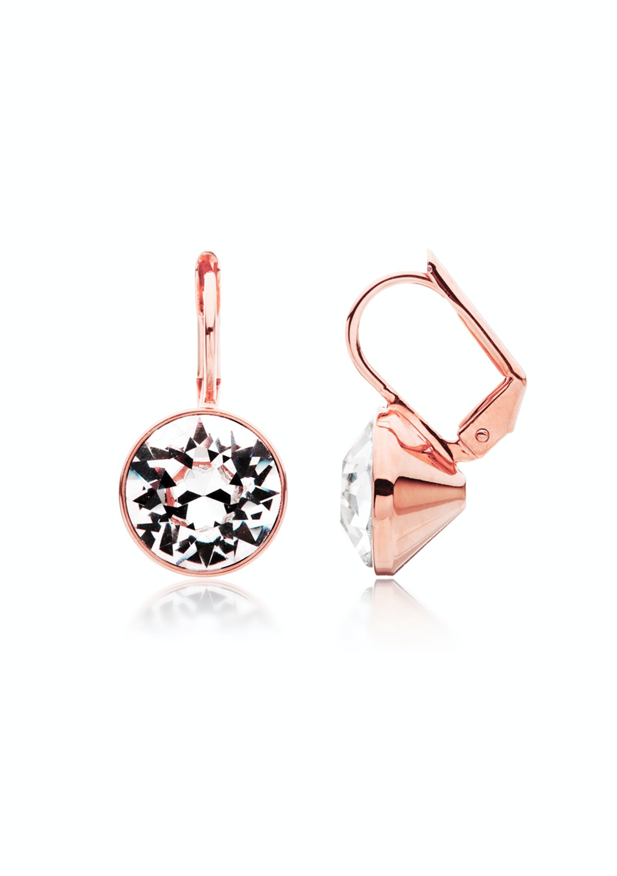 Drop Earrings Rose Gold plated Embellished with Crystals from Swarovski