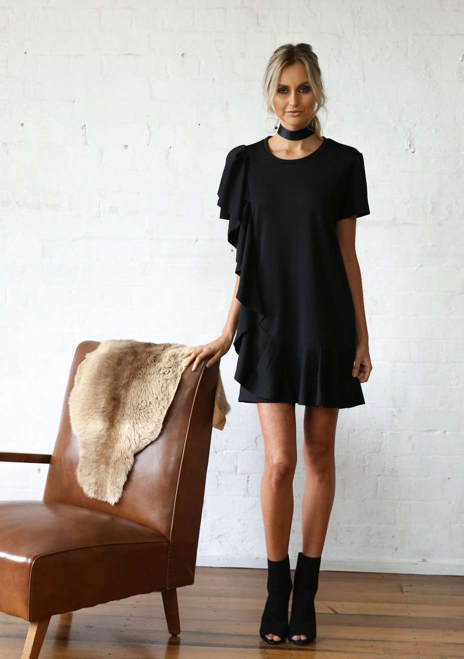 Madison - SLOW DANCE TEE DRESS - BLACK