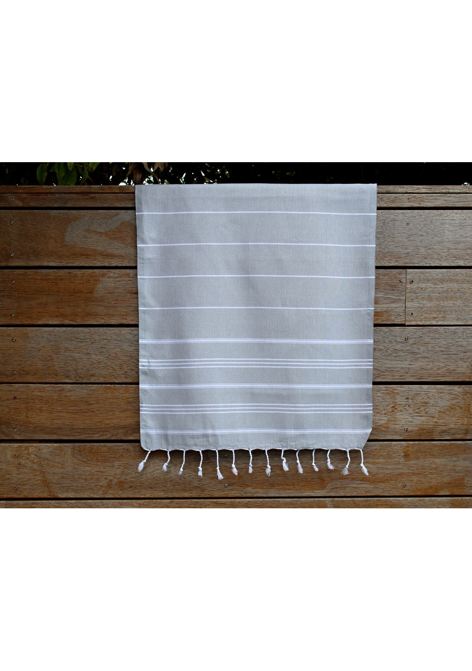 De La Mer Grey Small Turkish Towel
