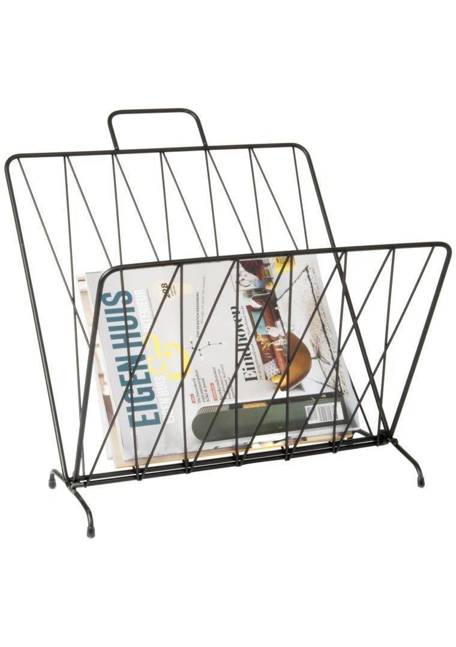 Pt Home - Magazine Rack 'Diamond Raster' - Black