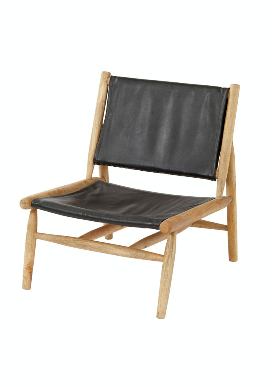 wood and leather chair. Amalfi - Haymes Leather Chair Natural Mango Wood/Black Designer Furniture Pieces Onceit Wood And