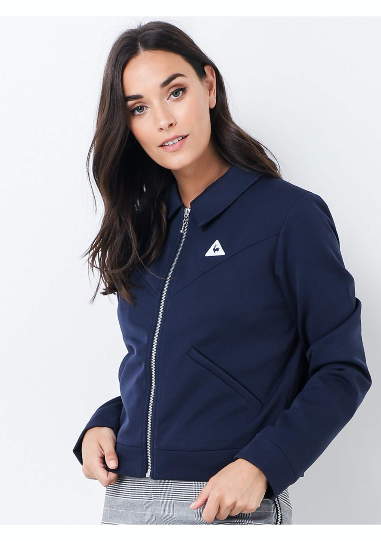 572ce2780a Le Coq Sportif - Womens Rachelle Jacket - Dress Blues - Le Coq Sportif -  Onceit