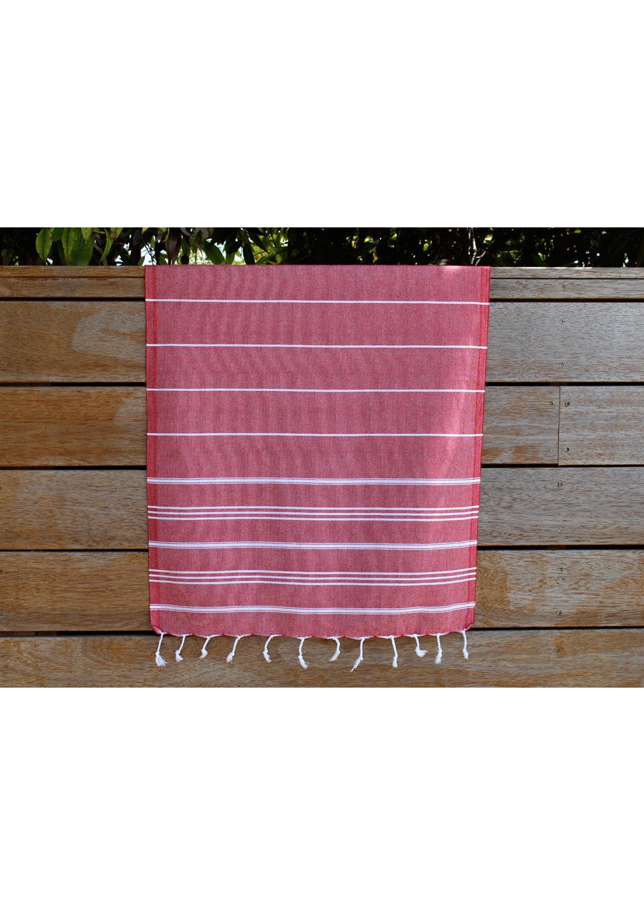 De La Mer Red Small Turkish Towel