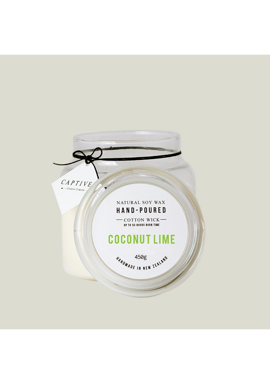 Captives Cotton Wick Candle - Coconut Lime