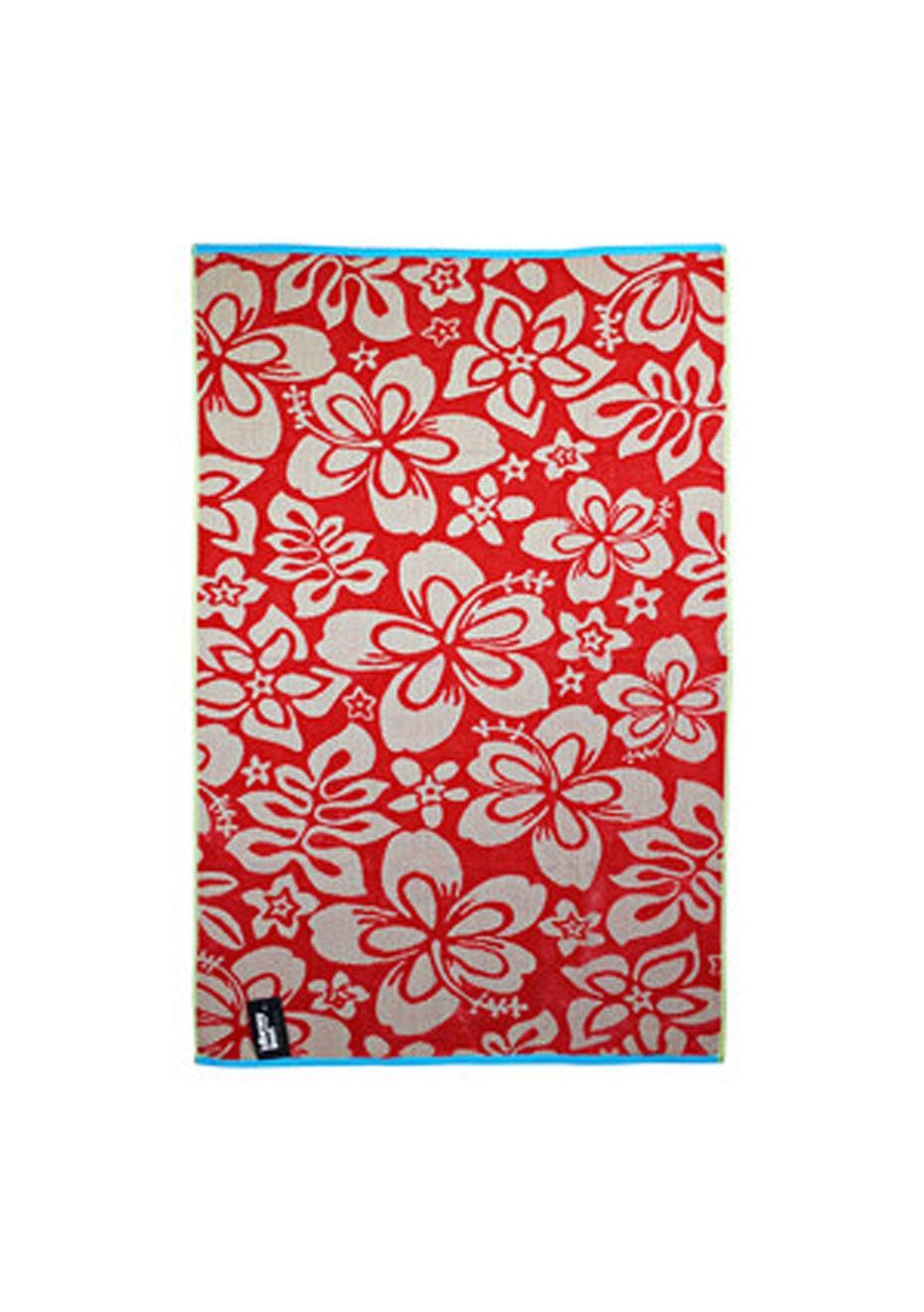 Indie Rose 100% Cotton Velour Jacquard Beach Towel - 80x160cm