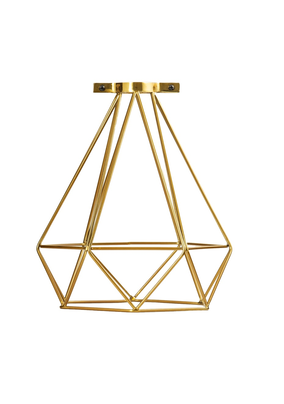 General Eclectic - Geo Wire Lampshade Brass