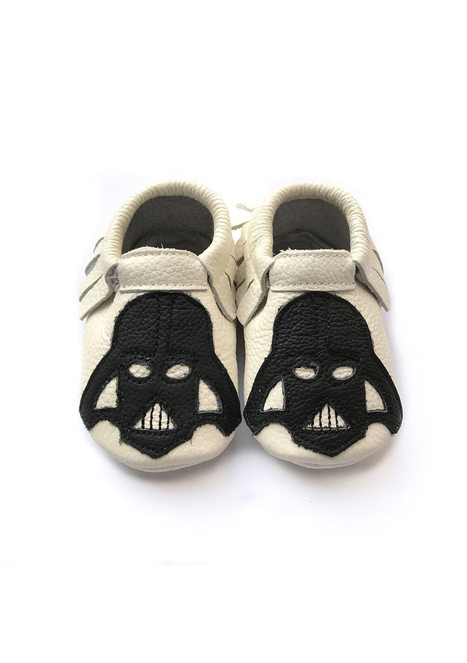 Baby  Leather Shoes - White / Black