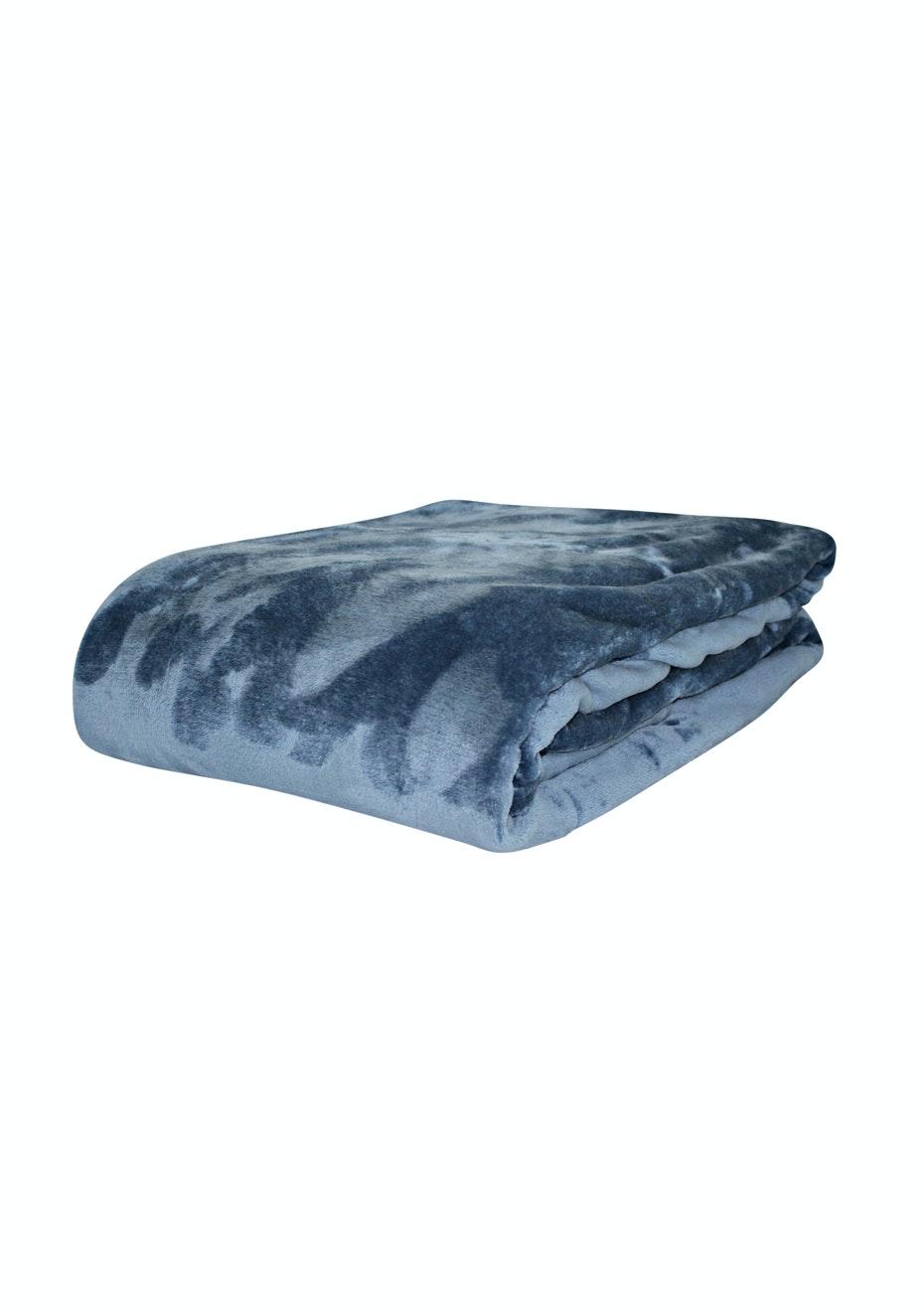 Super Soft Blanket - Dark Denim - Queen/King