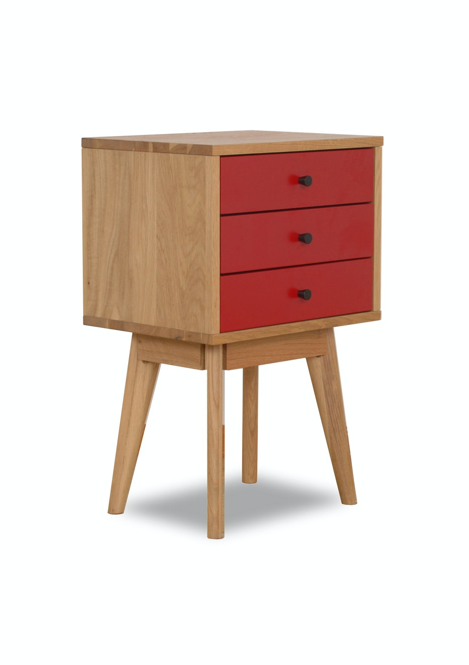 Furniture By Design - Radius 3 Tower- Red and Oak