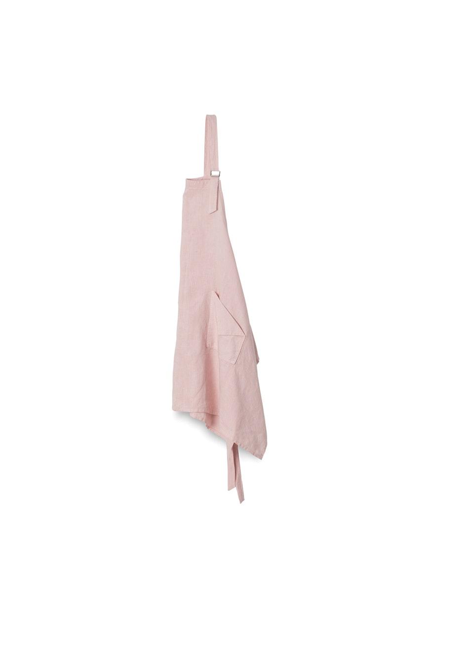 Citta - Nourish Linen Apron - Ice Pink