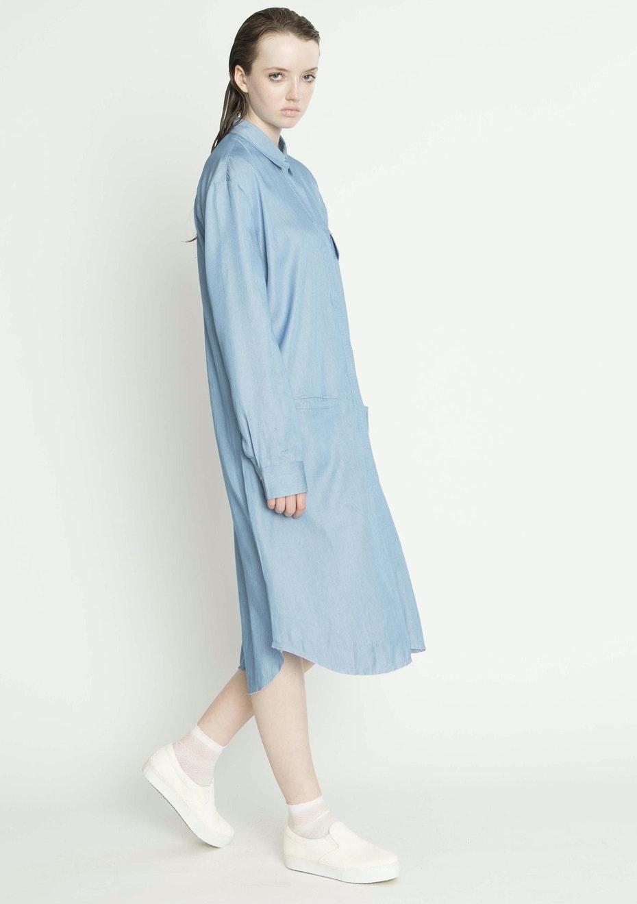 Salasai - RAUCOUS SHIRT DRESS - CHAMBRAY