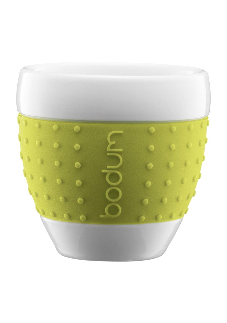 Bodum - 2 Pcs Mug, 0.25L Porcelain - Lime