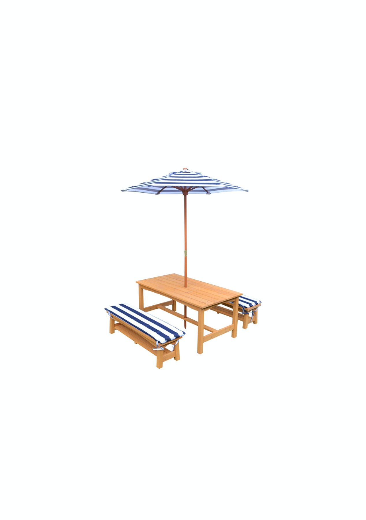 Childrens Outdoor Picnic Table And Bench Seat With Umbrella